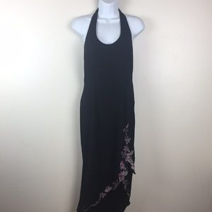 Adrianna Papell Evening Black Dress Size 6 High Lo